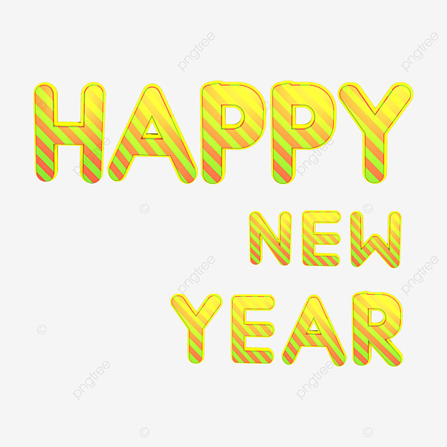 gold happy new year english wordart new clipart new year wordart png image