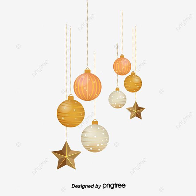 Hermosa Bola De Navidad Adornos Vector Vector De Material Vector - Adronos-de-navidad