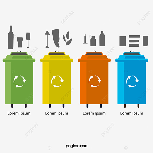 Trash Can Garbage Classification Map Environmental Fig