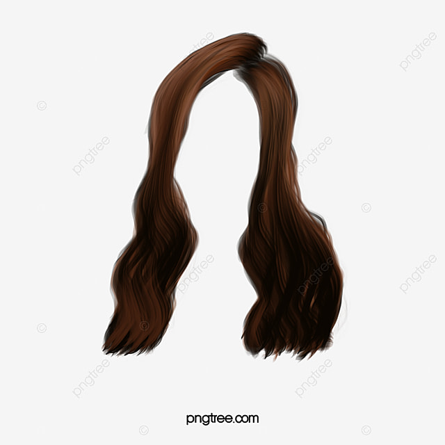 Brown Hair Clip Wig Female Front Wigs Material Png Image And Clipart