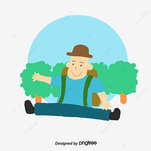 Cartoon peint la main des voyageurs le tourisme des - Voyageur dessin ...