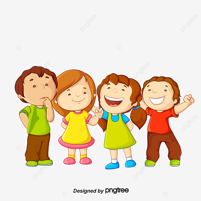 Cartoon Creative Group Of Boys And Girls Friendship Image Cartoon