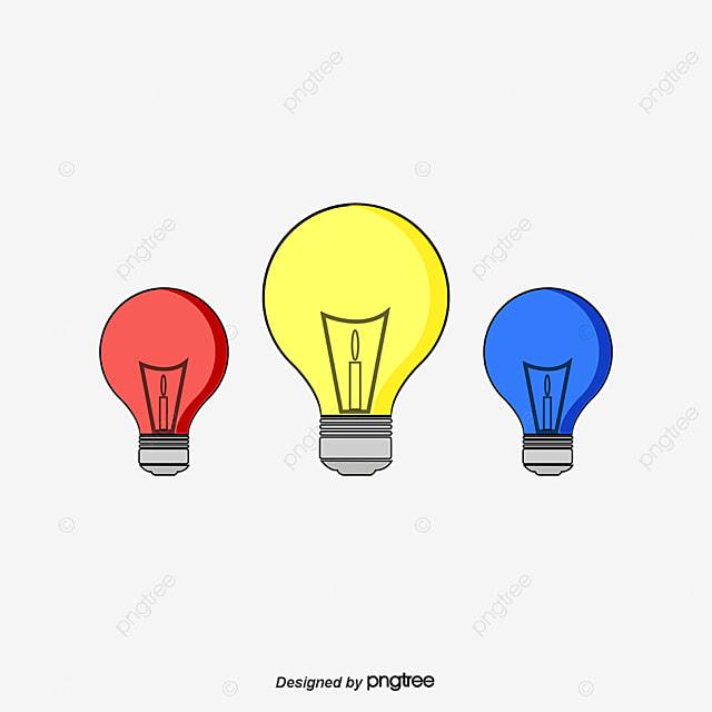 une ampoule mettrice de lumi re de trois couleurs rouge jaune et bleu rouge bleu jaune png et. Black Bedroom Furniture Sets. Home Design Ideas