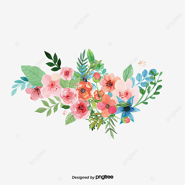 Vector Splash Watercolor Flowers Flowers Watercolor