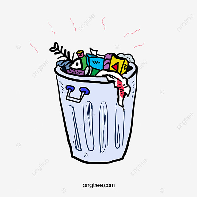 cartoon stinking garbage garbage heap trash can odor png image rh pngtree com garbage can clipart free trash can clipart free