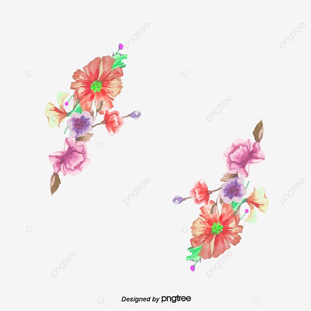 Flower Dibujo: Dibujo Acuarela Decoracion De Flores Acuarela Flores