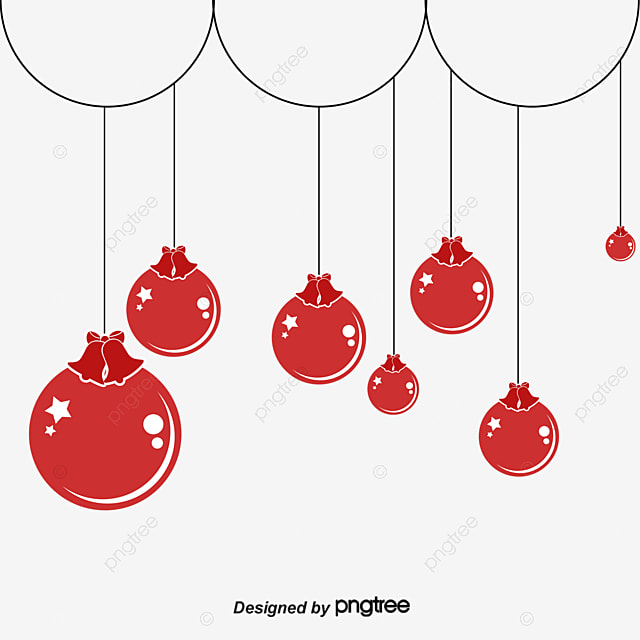 Cute Red Christmas Ornaments Balls PNG And Vector