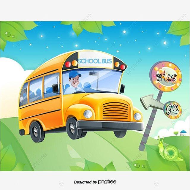Paragem De Autocarro School Bus Vector Amarelo PNG e vetor ...