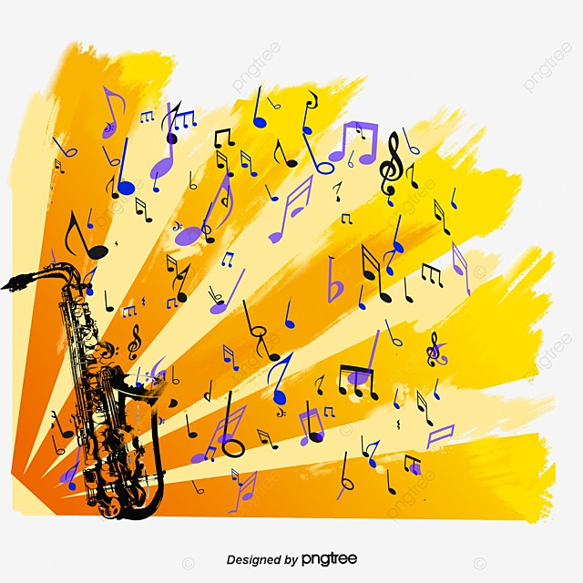 saxophone dynamic music vector material music material saxophone rh pngtree com free music vector icons free music vector art