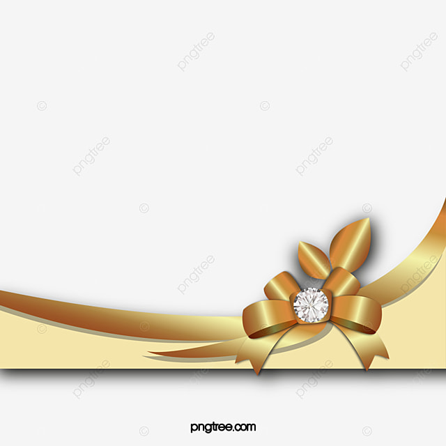 Gold Bow Png, Vector, PSD, And Clipart With Transparent