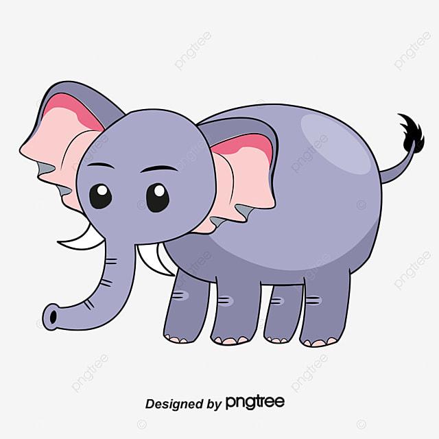 desenho de elefante fofo nariz pintado à mão animal dos desenhos