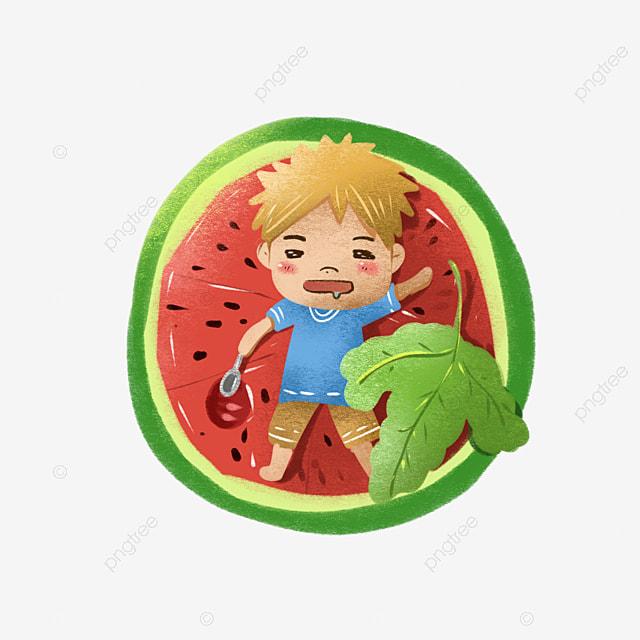 Cartoon Watermelon, Cartoon Clipart, Watermelon Clipart