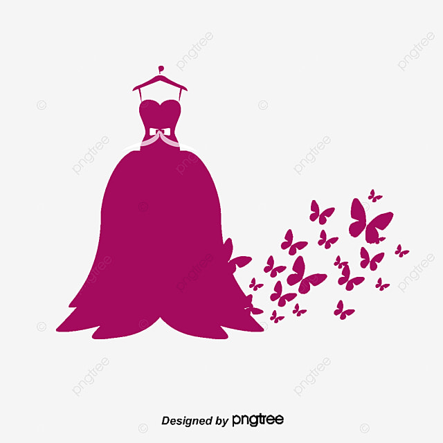 Butterfly Wedding Silhouette Vector Material Wedding