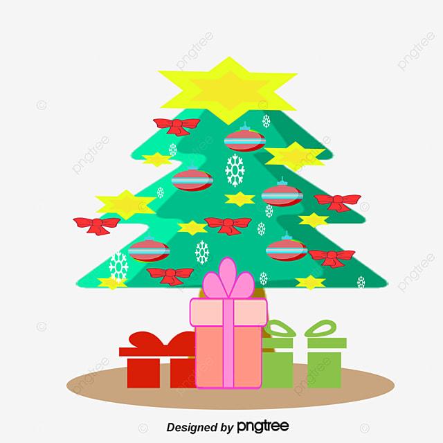 A rvore de natal cheia de presentes a rvore de natal - Arbol de navidad con regalos ...