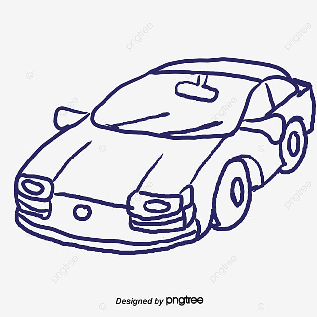 Stick Figure Sketch Car, Car, Jane Pen, Sketch PNG and PSD File for ...