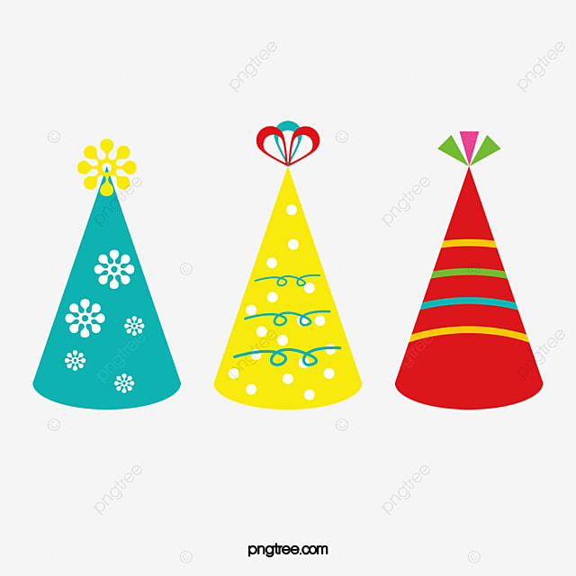 birthday hat vector material birthday hat vector hat festive hat rh pngtree com birthday hat clipart vector birthday hat vector flat