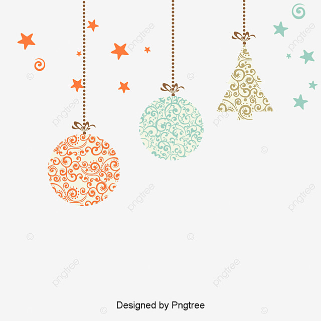 Vector de decora o de natal a bola cart es postais for Dibujos de navidad bolas