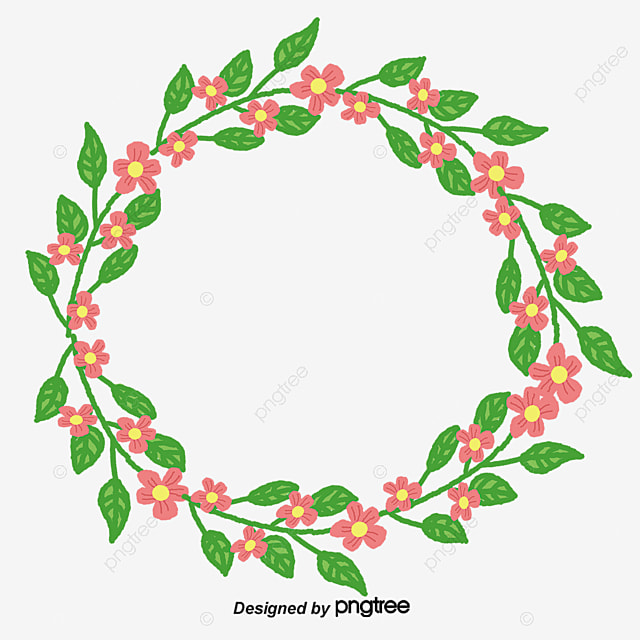 Vector Creative Circle Flower Frame Material Ring PNG And