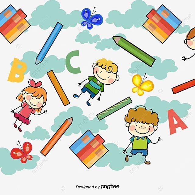 vector kids background cartoon background pencil