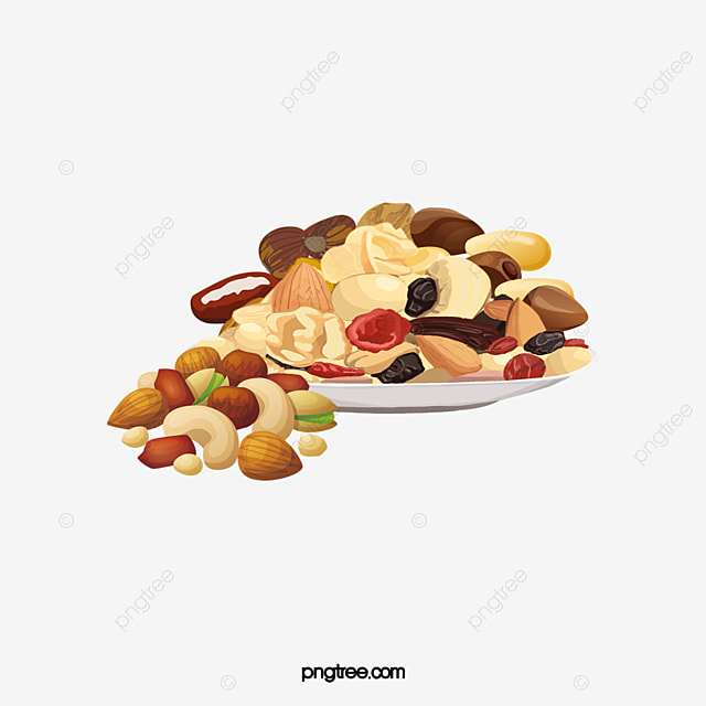 Bowl Of Nuts, Cashew, Almond, Chestnut PNG Image And