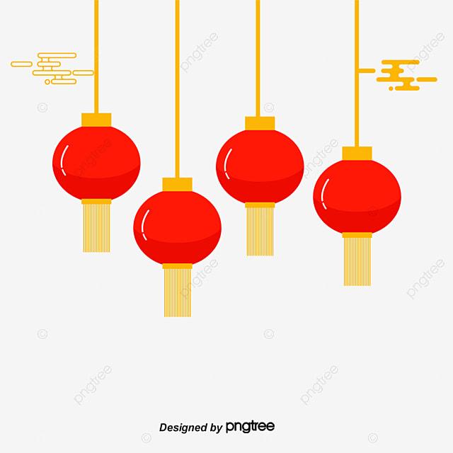 Vector Flat Style Chinese Lantern, Lantern, Flat, Chinese ...