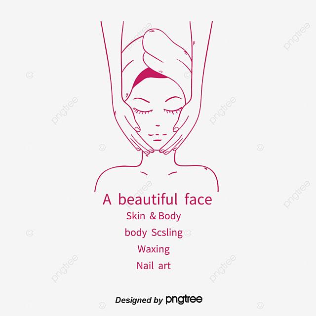 dessin de soins de beaut u00e9 facial massage soins du visage