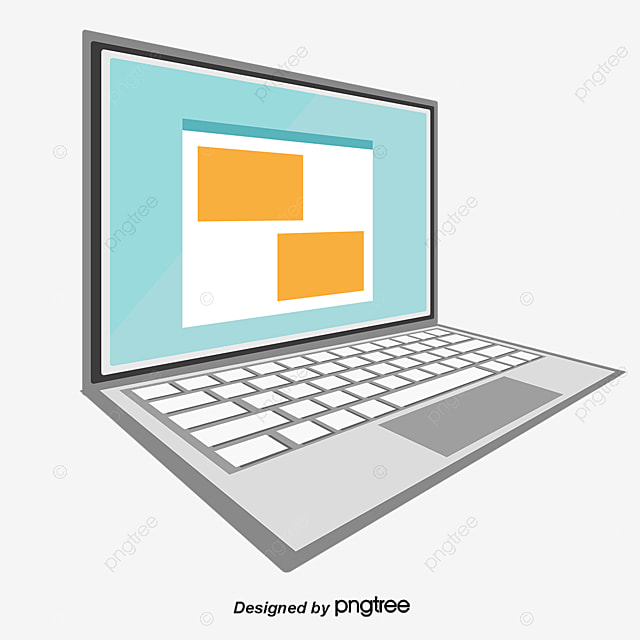 Flat Vector Laptop Vector Flat Laptop Png And Vector