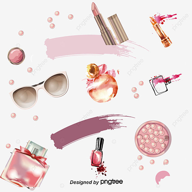 Makeup Vector Background Valentines Gift Valentines Day