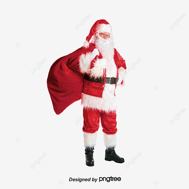 santa claus carrying a gift santa claus red dress carrying a gift png - Santa Claus Red