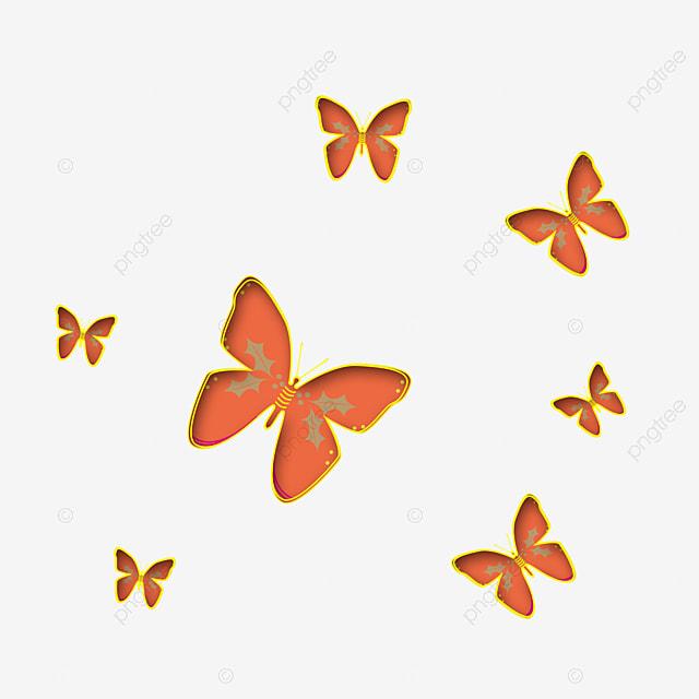 orange butterfly orange clipart butterfly clipart black