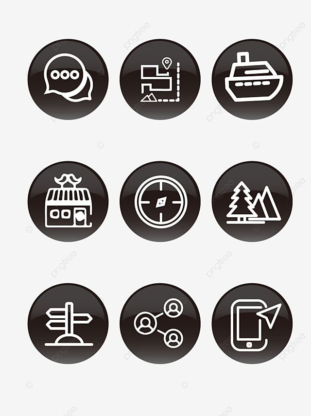 20 of the black business icon vector material business icons