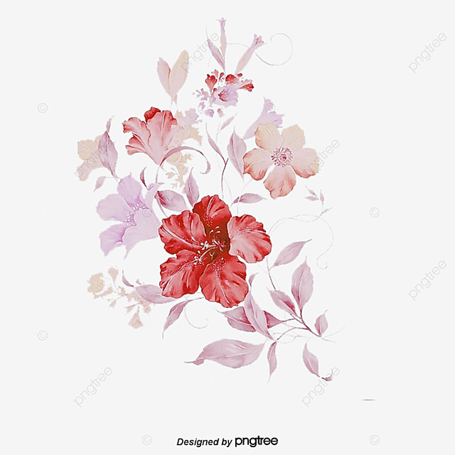 Pink Flowers Vector Flowers Pink Vector Png And Vector
