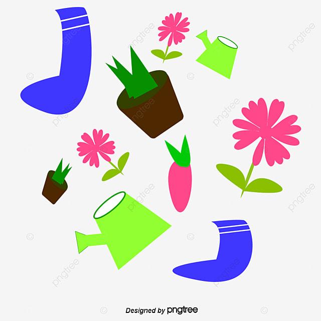 Worksheet. Dibujos animados de herramientas de jardineria Seamless background