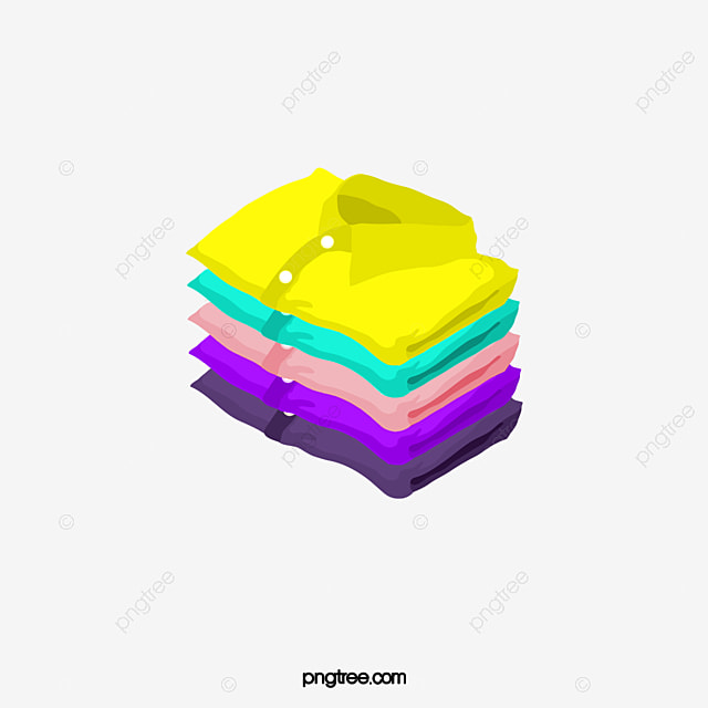 A Stack Of Colored T-shirt, Color, T Shirt, Clothes PNG ...