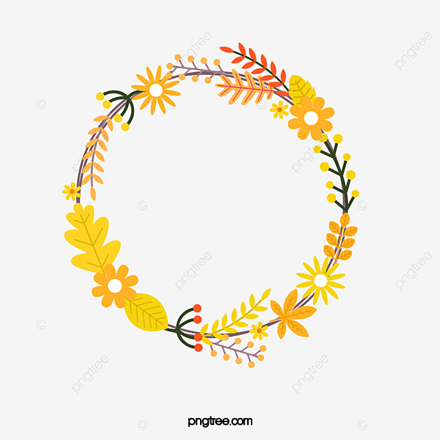 Yellow Wreath Wreath Pattern Frame Image And Clipart For Free