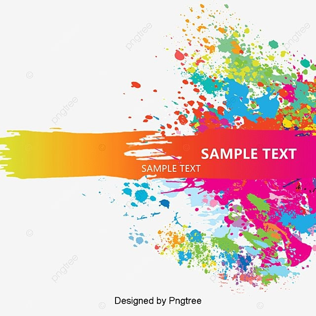 Color Splash Background Vector Material Free PNG And