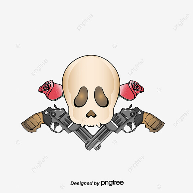 Vector Guns N Roses Skull Death Flowers Png And Vector For Free