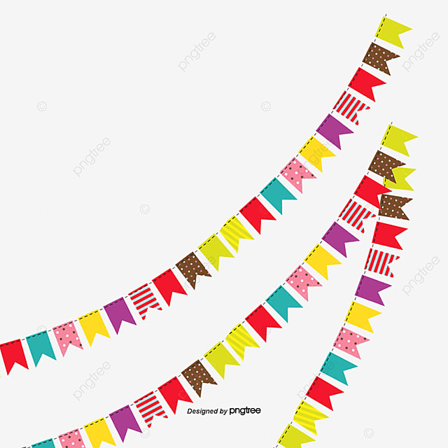 vector holiday banners hanging flags bunting pennant triangle rh pngtree com happy holiday banner clip art free