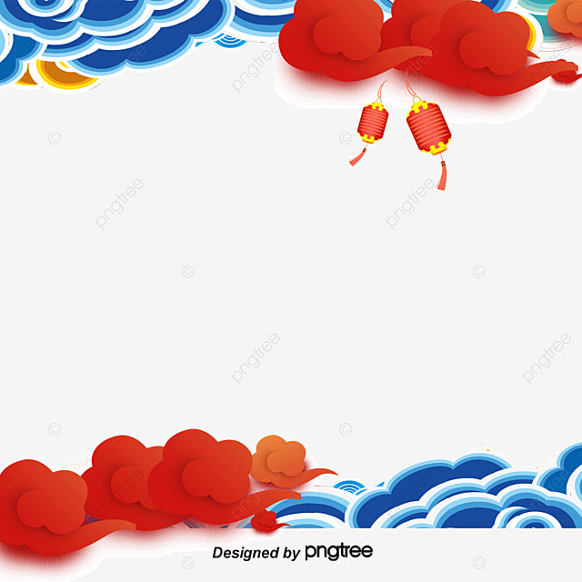 chinese wind vector border chinese style new year border rooster vector png and