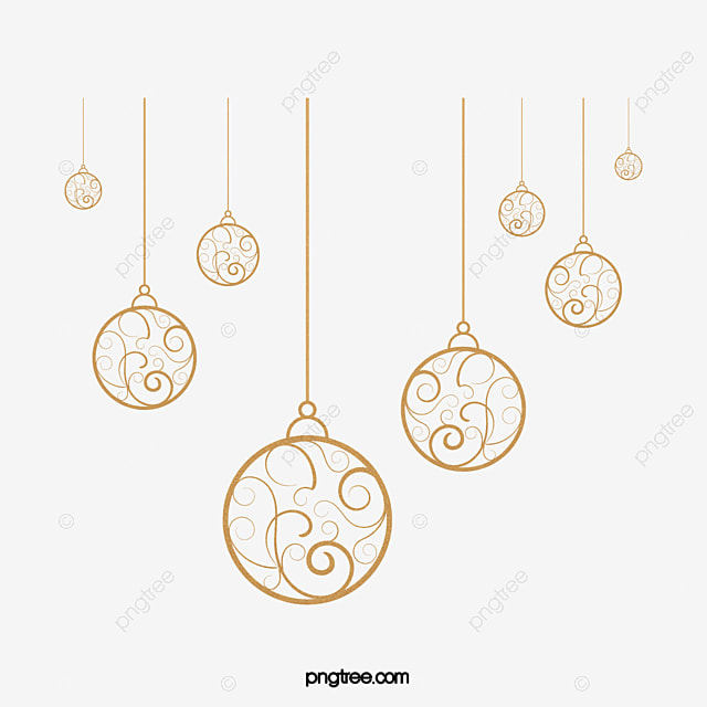 Retro Holiday Ornaments Golden Ball Festive Ornaments Ball
