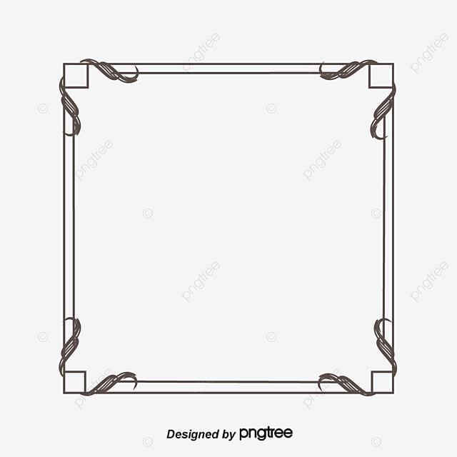 Square Border Square Vector Border Vector Vector Ancient Box Png
