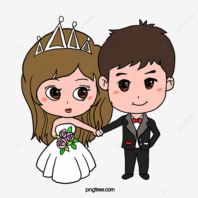 cartoon wedding wedding clipart bride romantic png and vector for