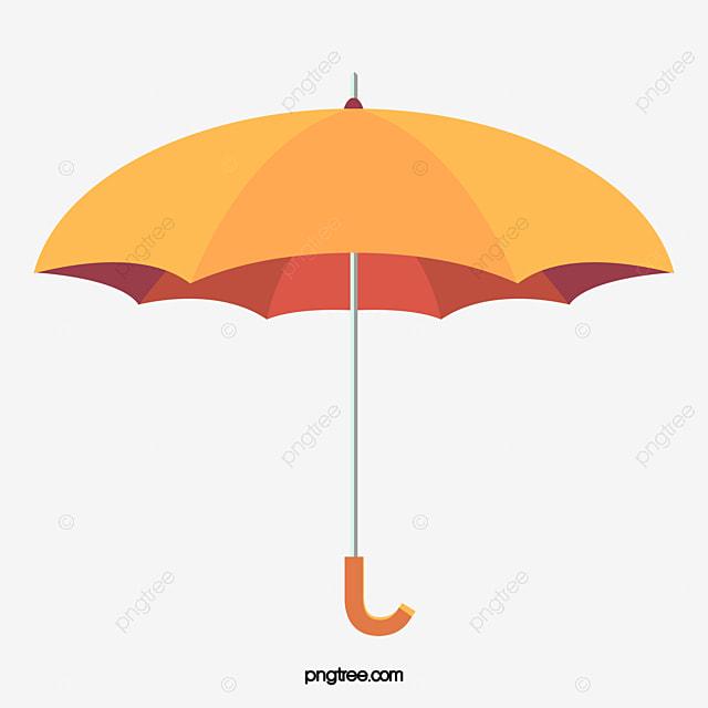 vector painted yellow umbrella vector hand painted yellow rh pngtree com umbrella vector tutorial umbrella vector logo
