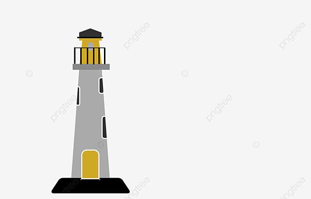 La mer de phare rouge dessin phare png et vecteur pour - Dessin de phare ...