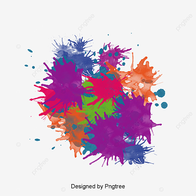 Color splash effect png image_picture free download.