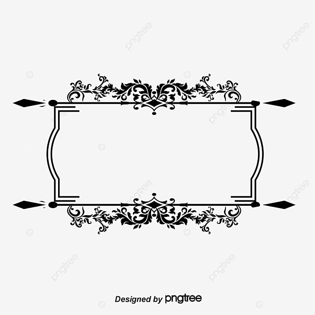 Ancient Black Pattern Vector Frame, Vector Ancient Box, Frame ...