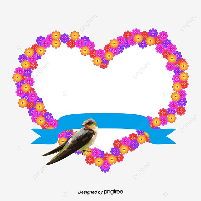 Vector Love Birds Wedding Flowers, Love Clipart, Wedding