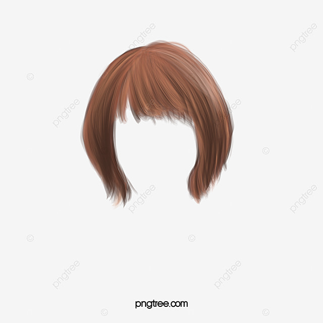Pretty Western Style Short Hair False Hair Clip Wig Clipart Western Style Pretty Png Transparent Clipart Image And Psd File For Free Download