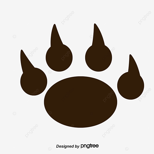 bear footprints template - footprints vector footprint bear 39 s paw png and vector