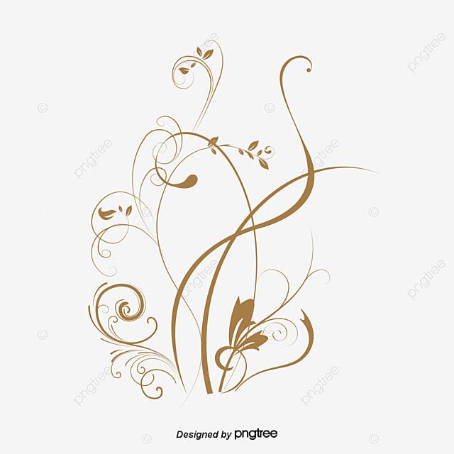 arabesque rose vignes brun de vigne fichier png et psd